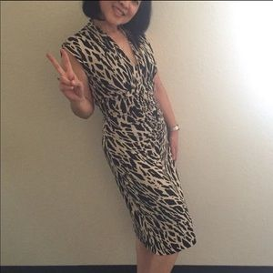 AEDEN B leopard dress